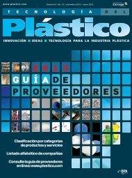 Clasificación por categorías de productos y servicios - Plastico
