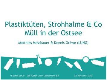 Plastiktüten, Strohhalme & Co Müll in der Ostsee - Küsten Union ...