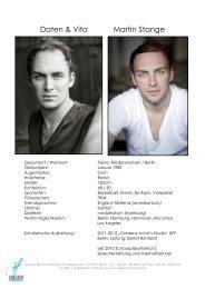 Daten & Vita Martin Stange