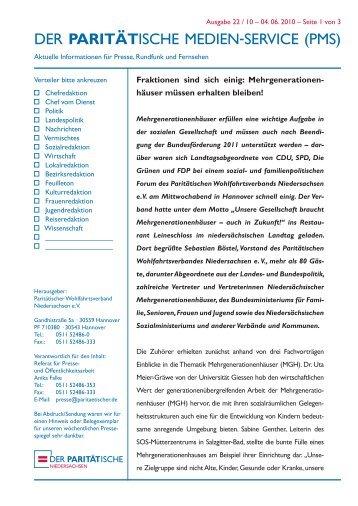 pms - Landesverband Paritätischer Niedersachsen e.V.