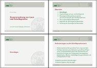 Zusammenhang von Laut- und Schriftsprache - Dr. Karin Reber