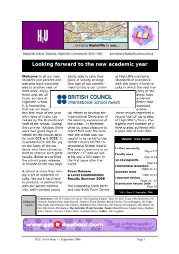 Vol 6 Issue 1.pub - Highcliffe School