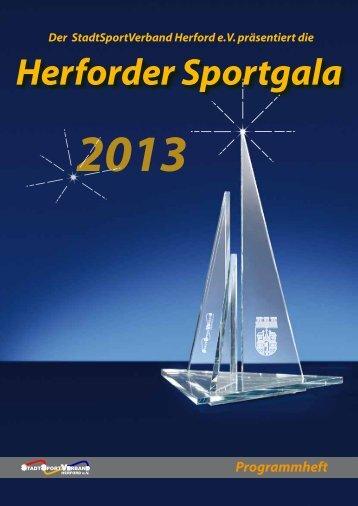 Herforder Sportgala Programmheft 2013 - Stadtsportverband