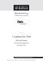 7. Lehrbrief AO / FGO - Steuerlehrgänge Dr. Bannas