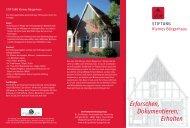 Faltblatt zur STIFTUNG Kleines Bürgerhaus
