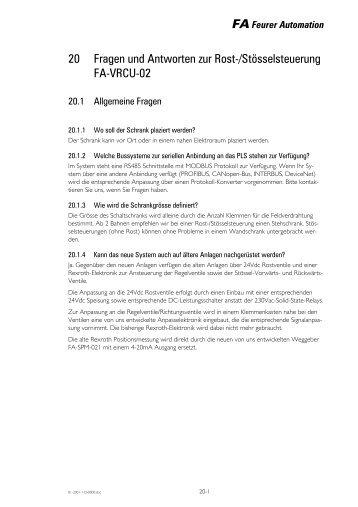 20 Fragen und Antworten zur Rost ... - Feurer Automation AG