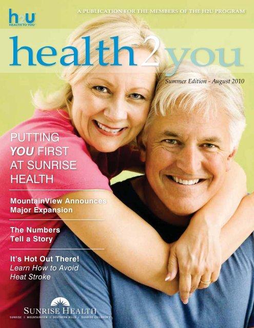 Summer Edition - August 2010 - Sunrise Health System
