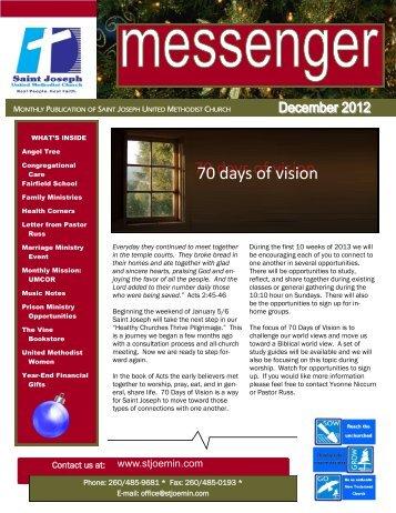 70 days of vision 70 days of vision - Saint Joseph United Methodist ...