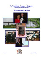 The Worshipful Company of Engineers The Swordsman Newsletter