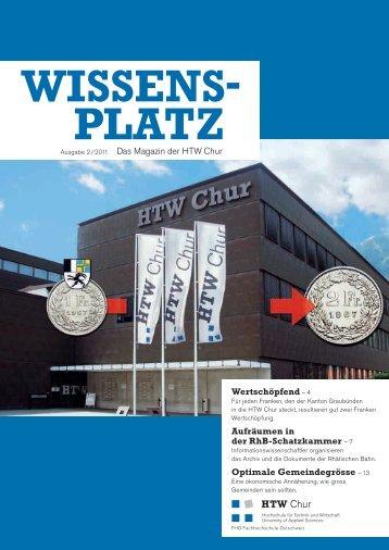 Wissensplatz (Ausgabe 2/2011) - HTW Chur