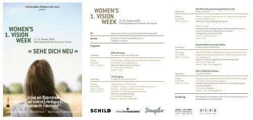 WOMEN'S VISION WEEK 1. - Feng Shui
