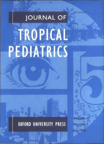 Front Matter (PDF) - Journal of Tropical Pediatrics