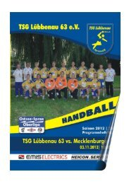 TSG Lübbenau Abt. Handball Saison 2011/ 12
