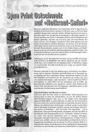 4-Tages-Reise Bericht - Syna Ostschweiz