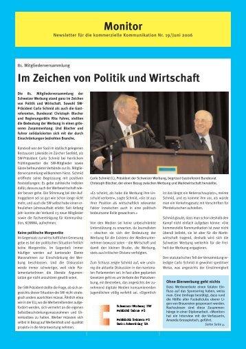 Monitor 19 - auf SW Schweizer Werbung
