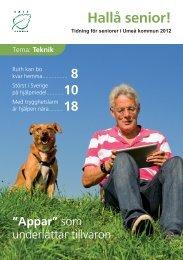 Hallå senior 2012 (tema Teknik) (pdf) - Umeå
