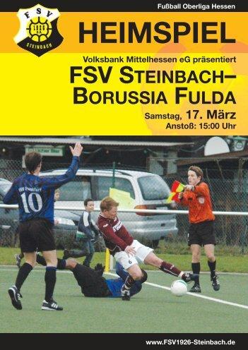 FSV STEINBACH– BORUSSIA FULDA