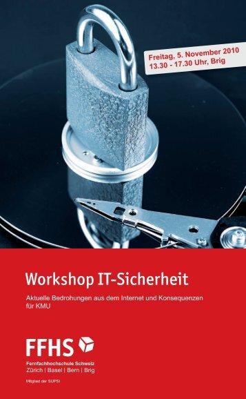 Workshop It-Sicherheit - Fernfachhochschule Schweiz