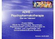 ADHS – Psychopharmakotherapie - Universitätsklinikum Ulm