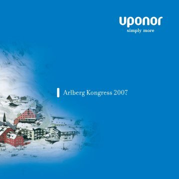 Arlberg Kongress 2007 - Uponor