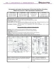 Petrography and Isotopic Geochemistry of Ordovician Red River ...