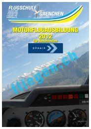 Kursprogramm 2012 Sphair - Flugschule Grenchen