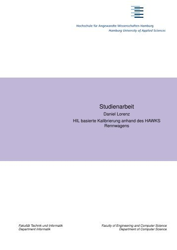 Bachelorarbeit im Studiengang Technische Informatik der Fakultät ...