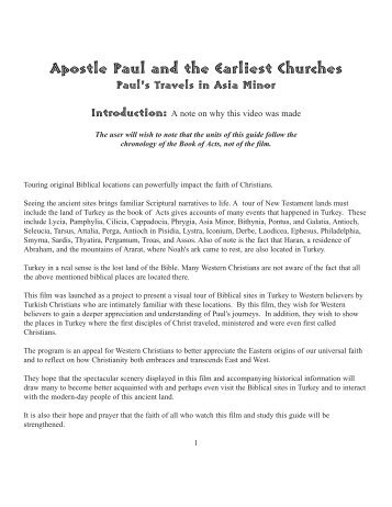 Apostle Paul and the Earliest Churches - Vision Video