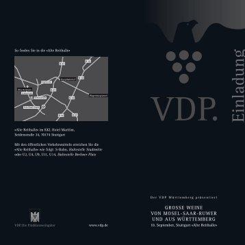 Einladung - Weingut Gerhard Aldinger