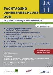 Fachtagung jahresabschluss 2011 - Wibico