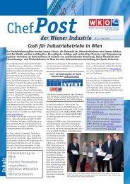 Chefpost 5/2009 - Wirtschaftskammer Wien