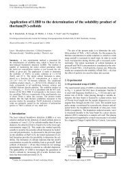Application of LIBD to the determination of the solubility product of ...