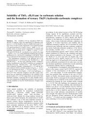 Solubility of ThO2 ·xH2O(am) in carbonate solution and the ...