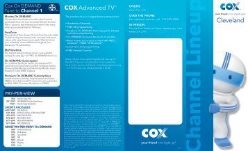cox pdf View and download cox mini box setup manual online mini box set-top boxes pdf manual download.