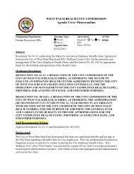 Agenda Cover Memorandum for 02/ - City of West Palm Beach