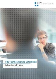FHO Fachhochschule Ostschweiz Jahresbericht 2011