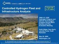 Controlled Hydrogen Fleet & Infrastructure Analysis - EERE - U.S. ...