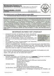 RICHTIGES HANDELN IST ANGESAGT - Weinbauring Franken eV