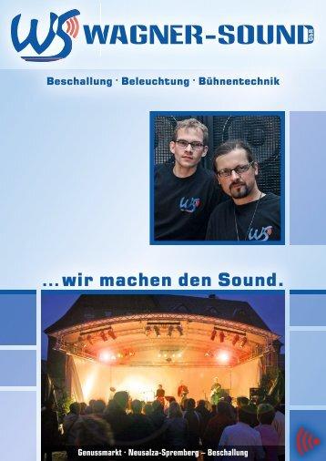 Wagner-Sound – Vorstellungsmappe