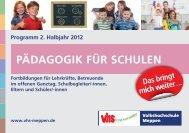 Themenbroschüre für Schulen - Volkshochschule Meppen