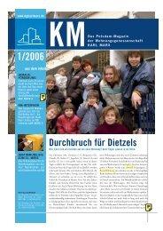 KM Magazin 1/2006 - Wohnungsgenossenschaft