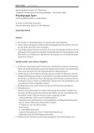 Projektgruppe Sport - Zukunft Hallschlag