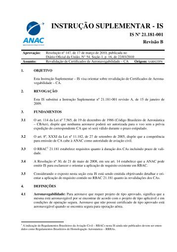 IS-21.181-001B - Anac