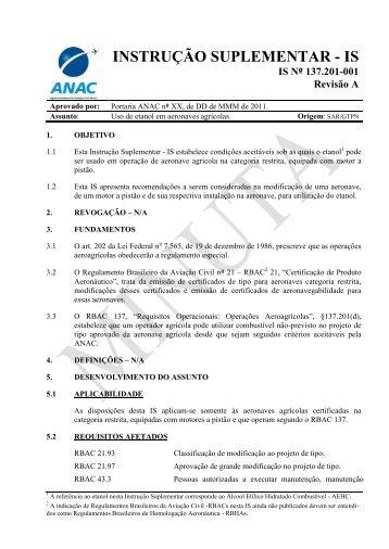 Anexo 2 à Resolução – Minuta da IS 137.201 - Anac