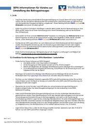 SEPA-Checkliste: Umstellung für Vereine (PDF-Datei) - Volksbank ...