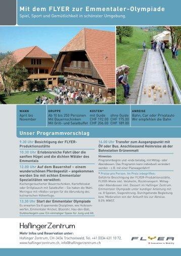 Die besten Events im Haflinger Zentrum - Flyer