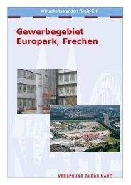 Gewerbegebiet Europark, Frechen - Wirtschaftsförderung Rhein-Erft ...