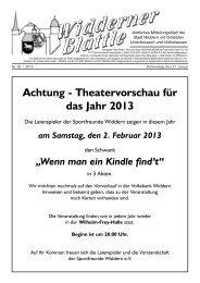 Achtung - Theatervorschau für das Jahr 2013 - Stadt Widdern