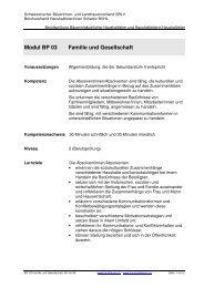 Modul BP 03 Familie und Gesellschaft