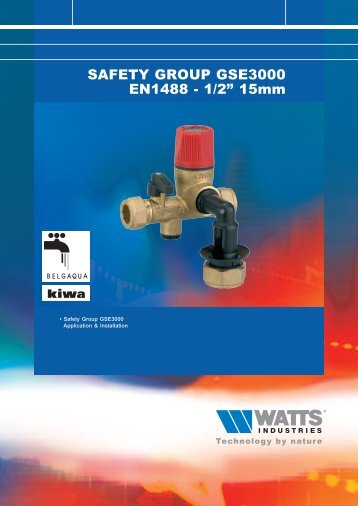 """SAFETY GROUP GSE3000 EN1488 - 1/2"""" 15mm - Watts Industries"""
